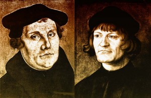 Martin Luther (1483-1546) og Ulrich Zwingli (1484-1531)