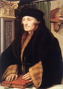 Hans Holbein the Younger - Portrait of Erasmus of Rotterdam, 1523